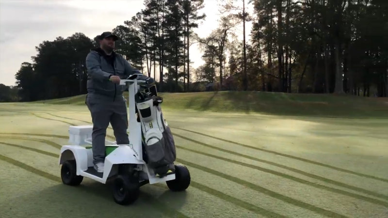 You'll never want to use a traditional golf cart again after seeing this thing